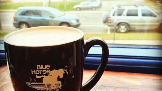 Blue Horse Mug